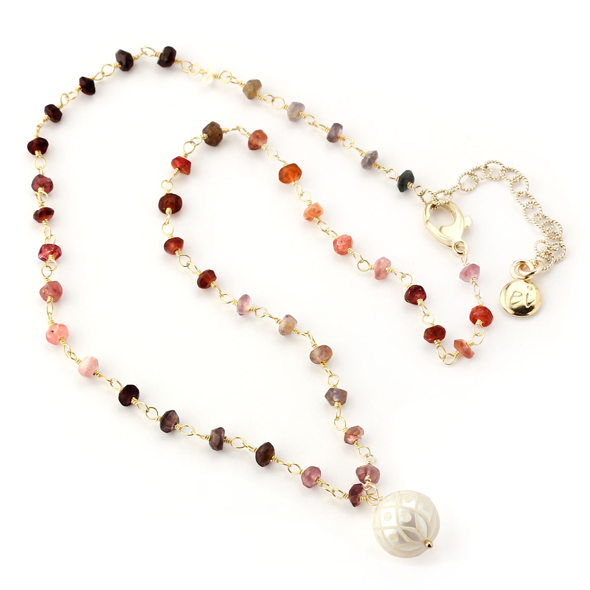 348521-Pearl & Spinel Necklace