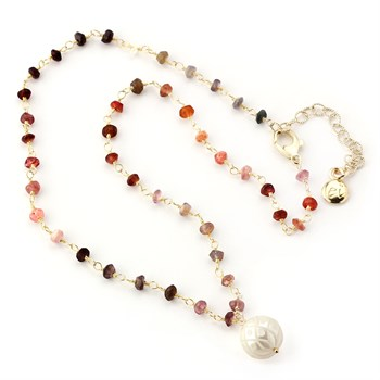 Pearl & Spinel Necklace-348521