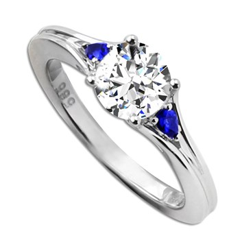 Frederic Sage Sapphire Engagement Ring-348884