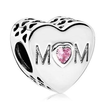 PANDORA Mother Heart with Pink CZ Charm