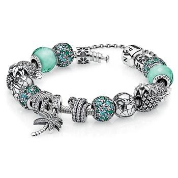 Pandora Bracelet Design Ideas open the other jumpring Pandora Caribbean Cool Charm Bracelet 1267