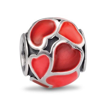 311045-PANDORA Red Hot Love with Enamel Charm