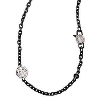 342313-Apex Spike Clasp & Black Chain