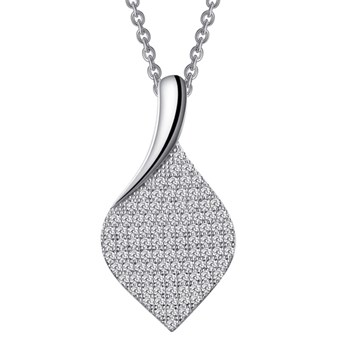Pavé Leaf Necklace-341274