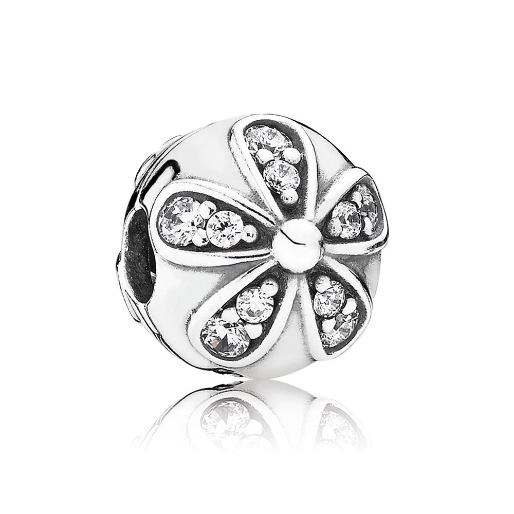 802-2855-PANDORA Dazzling Daisies with Clear CZ Clip