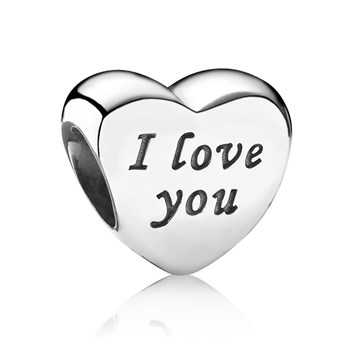 "802-1332-PANDORA Words of Love ""I Love You"" Charm"