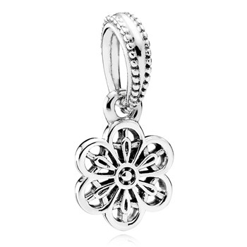 PANDORA Floral Daisy Lace Dangle