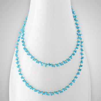 Medium Blue Quartz Necklace