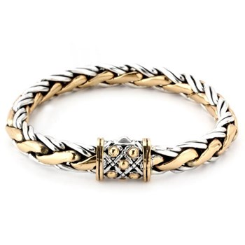 SS and Bronze Double Link Bracelet-342807