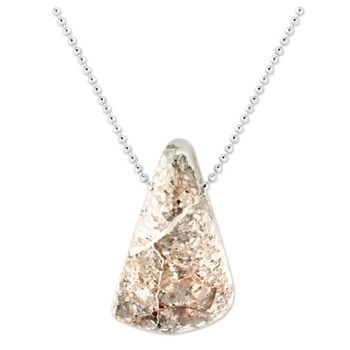 Silver in Quartz Pendant-343376