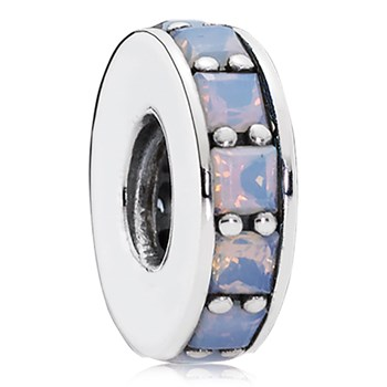 PANDORA Eternity with Opalescent White Crystal Spacer-802-3303