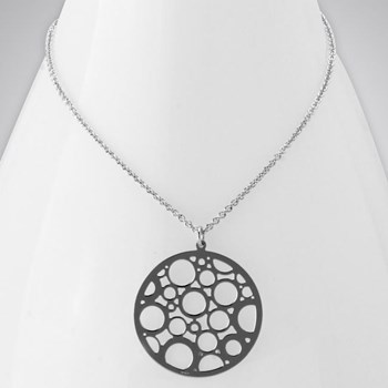 Rhodium Bubble Necklace ONLY 1 LEFT!-343268