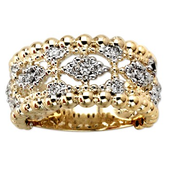 Openwork Diamond Ring-345238