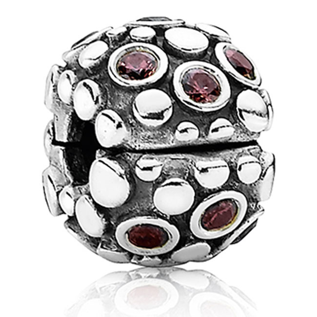 337735-PANDORA Encore with Rose CZ Clip RETIRED ONLY 4 LEFT!