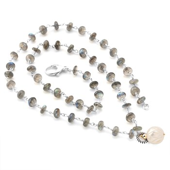 Labradorite & Pearl Necklace-349264