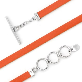 340095-Lori Bonn Tangerine Dream Leather Bracelet RETIRED