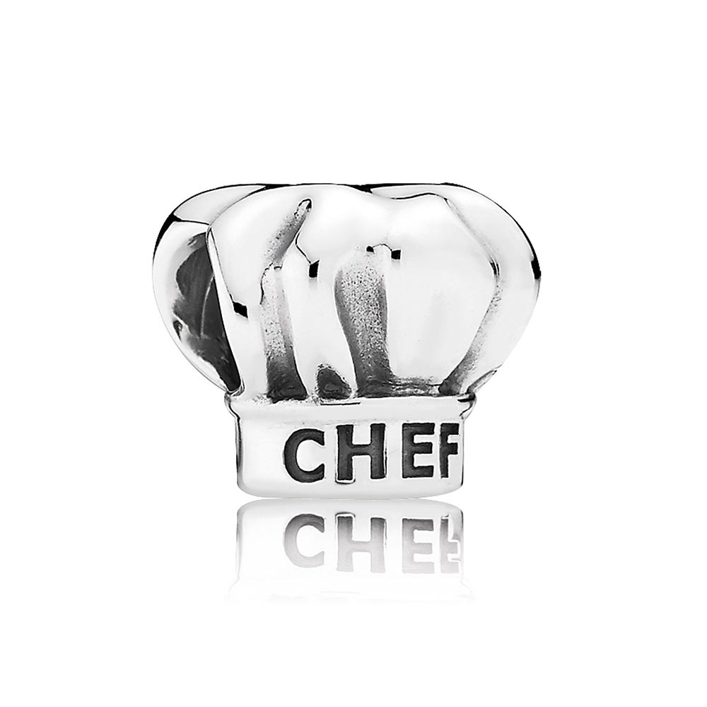 802-2862-PANDORA I Love Cooking Chef Hat Charm
