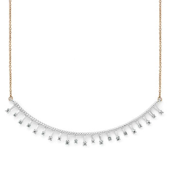 165-00099-Diamonds Bar Neckalce