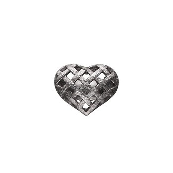 STORY by Kranz & Ziegler Black Rhodium Celtic Heart Button