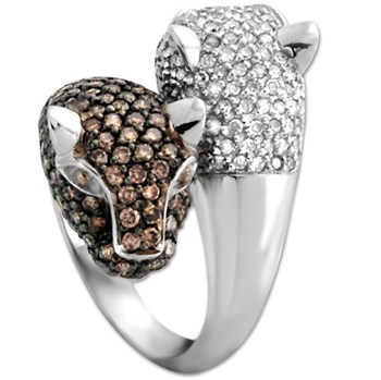 328302-Diamond Panther Ring
