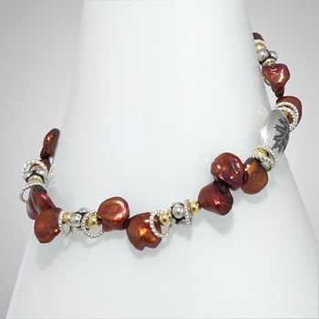 285001-Red Pearl Bracelet