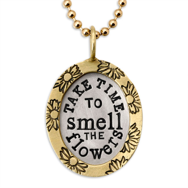338472-Take Time to Smell the Flowers Pendant