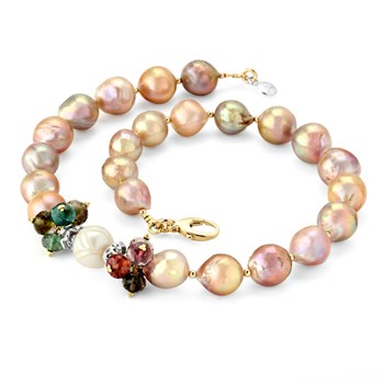 Fireball Pearls & Tourmaline  Necklace-346841