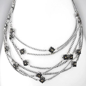 332415-Sterling Silver Wrap Necklace