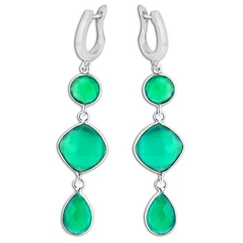 347406-Green Onyx Earrings