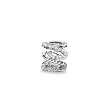 STORY by Kranz & Ziegler Sterling Silver Wavy Ring Spacer