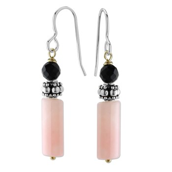 210-557-Pink Opal Dangle Earrings