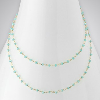 Ocean Chalcedony 14KTGF Single Necklace