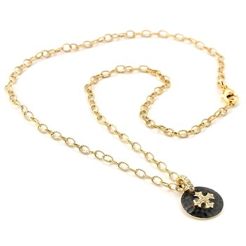 Topaz Maltese Cross Necklace-347534