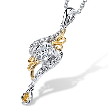 Lyria Diamond Pendant-347699