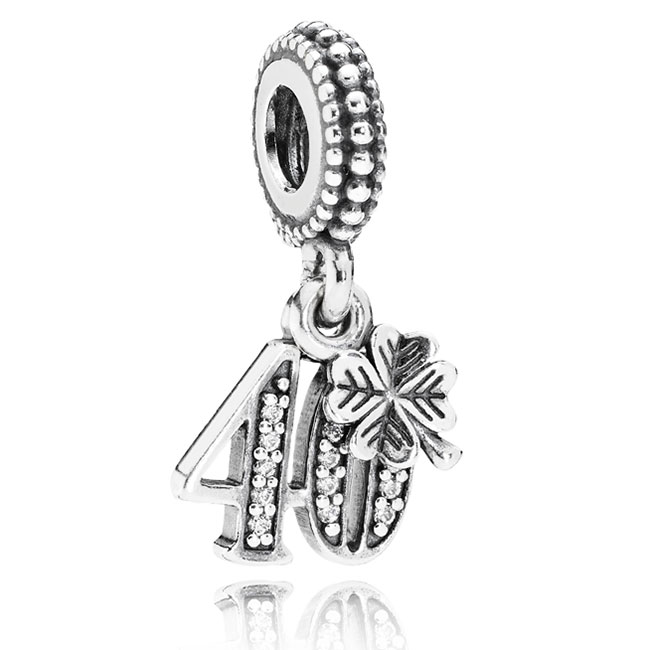 346991-PANDORA 40 Years of Love with Clear CZ Dangle