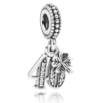 PANDORA 40 Years of Love with Clear CZ Dangle-346991