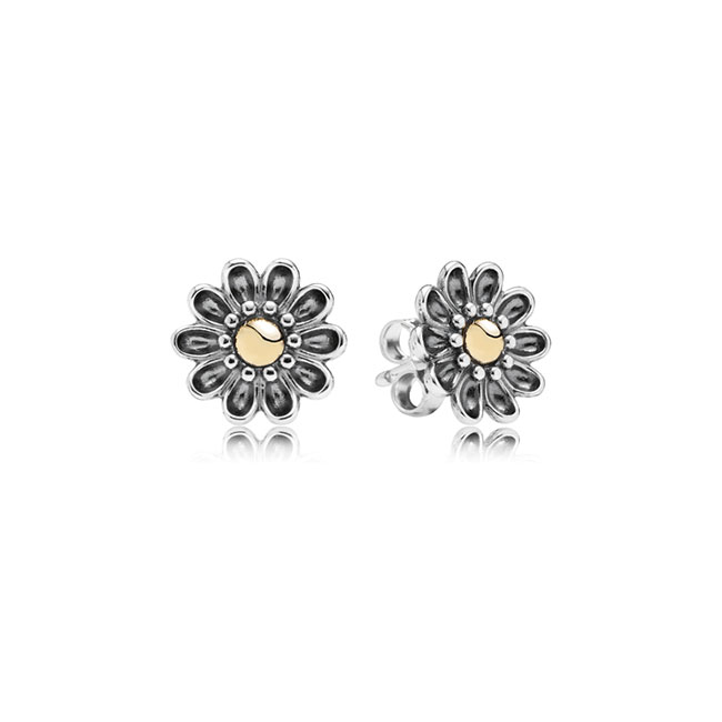 346523-PANDORA Oopsie Daisy with 14K Stud Earrings RETIRED ONLY 3 PAIRS LEFT!