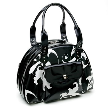 337014-Black & White Jewelry Bag