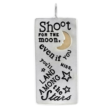 Shoot for the Moon Id Tag Charm-341306