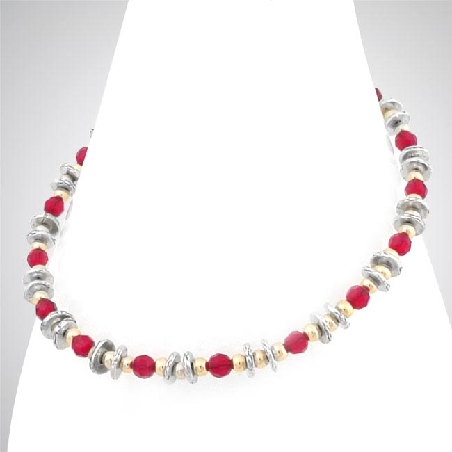276023-Red Swarovski Crystal Anklet