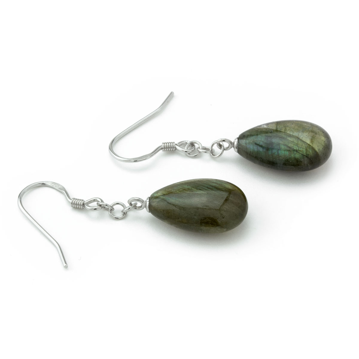 Labradorite Chain Earrings-645-831