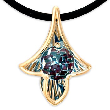 Galatea DavinChi Cut Blue Topaz Necklace-334367