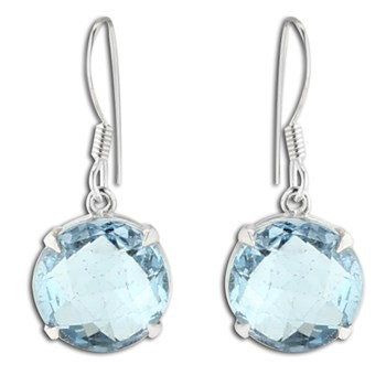 347427-Blue Topaz Earrings