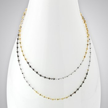 Dipped Pyrite Necklace-346816