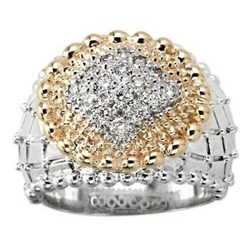 Square Quilted Diamond Ring-345237