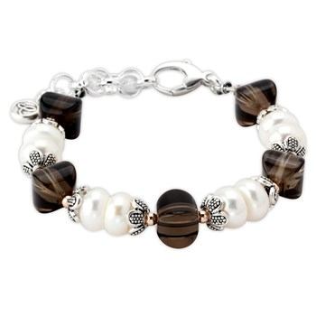 Smokey Quartz and Pearl Bracelet-343162