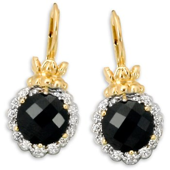 338602-Onyx & Diamond Earrings