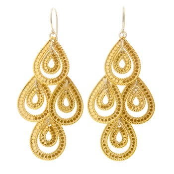 Gold Chandelier Earrings-346969