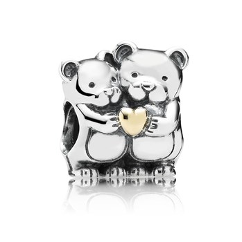 PANDORA Bear Hug with 14K Charm-348018