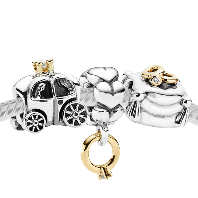 3403-PANDORA Just Married Set